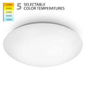 Glo White 14-Inch LED Flush Mount