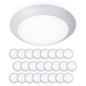 Disc White Seven-Inch LED ADA Outdoor Flush Mount and Retro Kit, Pack of 24