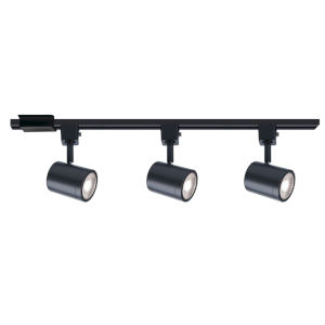 Charge Black Two-Inch Three-Light LED ADA Track Lighting Kit