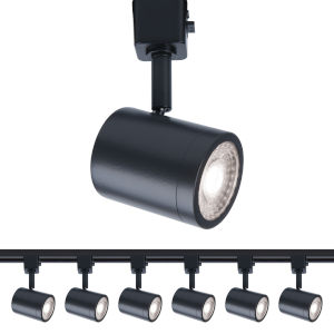 Charge Black Two-Inch LED ADA Head Track Light, Pack of 6