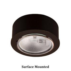 Dark Bronze Halogen Button Light