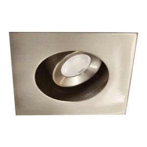 LEDme Brushed Nickel LED Square Mini Recessed Adjustable Light with 4500K Cool White