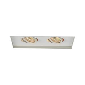 White Two-Light-Inch Low Voltage Multiples Trim