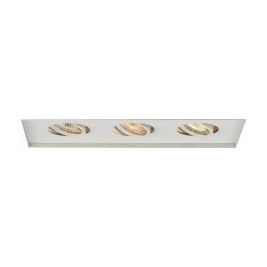 White Three-Light-Inch Low Voltage Multiples Trim