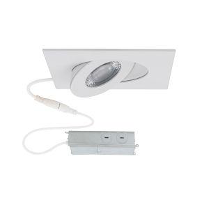 Lotos White LED Square Adjustable Recessed Light Kit