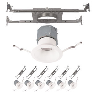 Pop-in White Nine-Inch LED ADA Recessed Downlight, Pack of 6