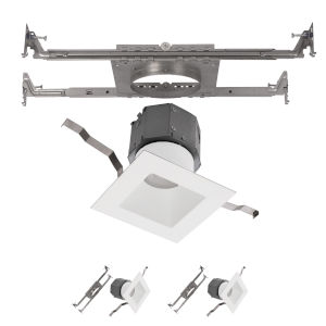 Pop-in White Nine-Inch LED ADA Square Recessed Downlight, Pack of 2