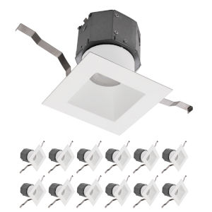 Pop-in White Nine-Inch LED ADA Recessed Downlight, Pack of 12
