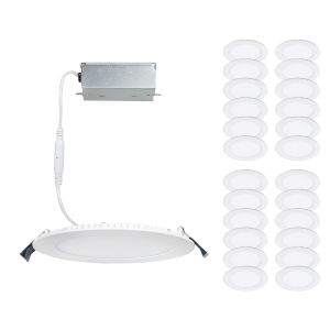 Lotos White Five-Inch LED ADA Round Remodel Kit, Pack of 24