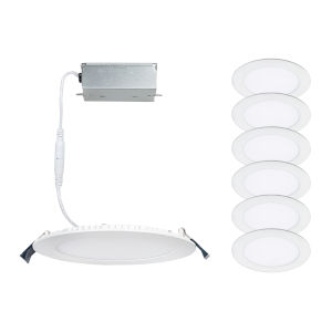 Lotos White Five-Inch LED ADA Round Remodel Kit, Pack of 6