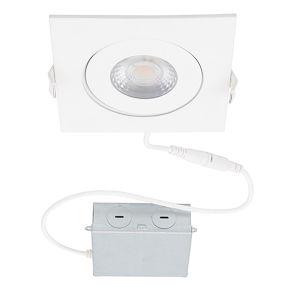 Lotos White LED Square Recessed Light Kit