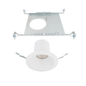Blaze White LED Round Recessed Light Kit