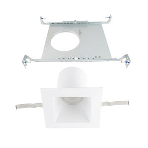 Blaze White LED Square Recessed Light Kit
