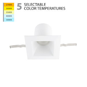 Blaze White LED Square Recessed Light Kit with Remodel Housing