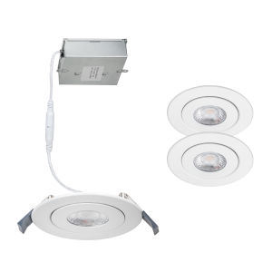 Lotos White Seven-Inch LED ADA Round Adjustable Recessed Downlight, Pack of 2