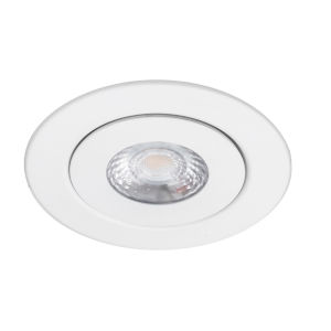 Lotos White Seven-Inch LED ADA Round Adjustable Recessed Downlight