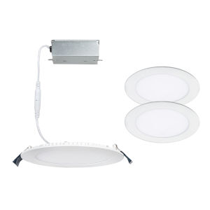 Lotos White Seven-Inch LED ADA Recessed Downlight, Pack of 2