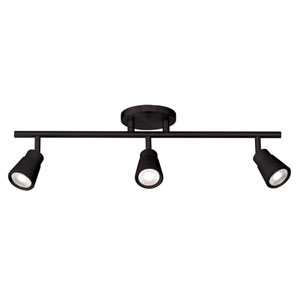 Solo Black Three-Light LED Fixed Rail Track Light
