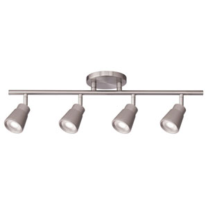 Solo Brushed Nickel Four-Light LED ADA Track Lighting