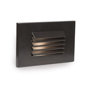 Signature Bronze Three-Inch LED ADA Landscape Horizontal Louvered Step and Wall Light