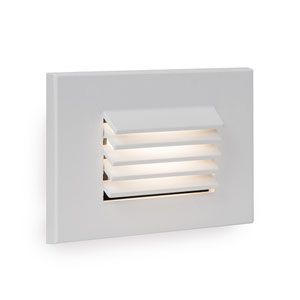 WAC Landscape White LED ADA Landscape Lighting with Horizontal Louvered Step and Wall Light