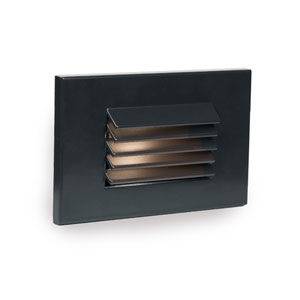 WAC Landscape Black 3000K LED ADA Landscape Lighting with Horizontal Louvered Step and Wall Light