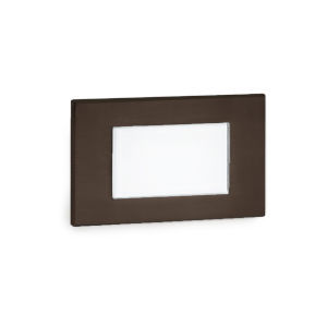 Signature Bronze Three-Inch LED ADA Landscape Diffused Step and Wall Light