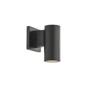 Cylinder Black LED Wall Sconce