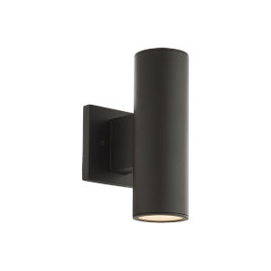 Cylinder Bronze Two-Light LED Wall Sconce