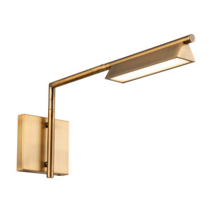 Eero Aged Brass LED Swing Arm Wall Light