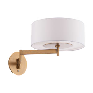 Chelsea Aged Brass LED Swing Arm Wall Light