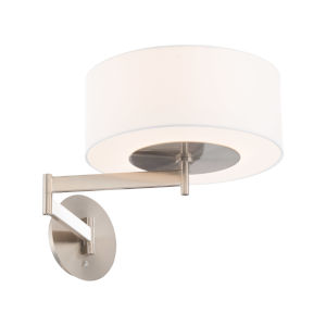 Chelsea Brushed Nickel LED Swing Arm Wall Light
