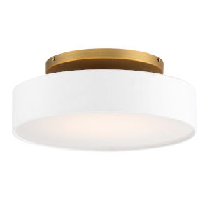 Manhattan Aged Brass 14-Inch LED Flush Mount