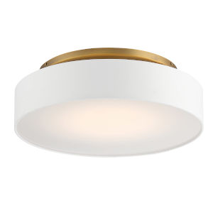 Manhattan Aged Brass 20-Inch LED Flush Mount