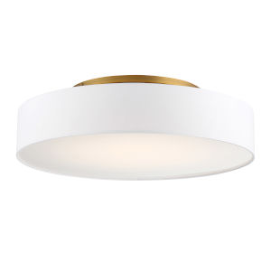 Manhattan Aged Brass 26-Inch LED Flush Mount