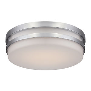 Vie Brushed Nickel 14-Inch 3000K LED Flush Mount