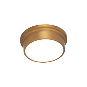 York Aged Brass 8-Inch LED Flush Mount
