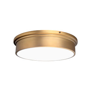 York Aged Brass 12-Inch LED Flush Mount