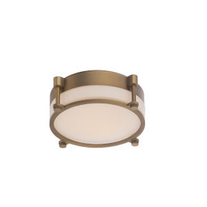 Wright Aged Brass 10-Inch LED Flush Mount
