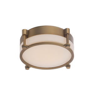 Wright Aged Brass 14-Inch LED Flush Mount