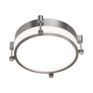 Wright Brushed Nickel 14-Inch LED Flush Mount