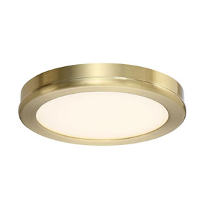 Geos Brass Six-Inch LED Flush Mount