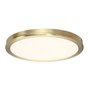 Geos Brass 10-Inch LED Flush Mount