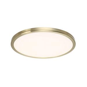 Brass 15-Inch LED Flush Mount