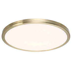 Geos Brass 22-Inch LED Large Flush Mount