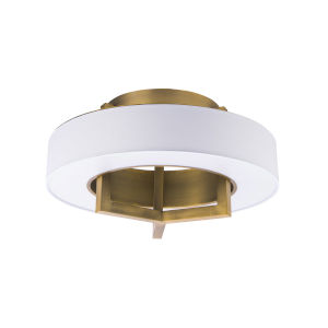 Madison Aged Brass 16-Inch LED Flush Mount