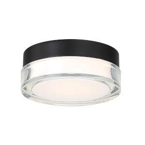Dot Black Six-Inch 3000K LED Outdoor Flush Mount