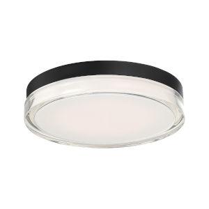 Dot Black 12-Inch LED Outdoor Flush Mount