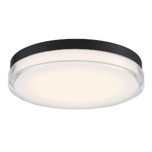 Dot Black 15-Inch 3000K LED Outdoor Flush Mount