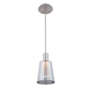Chic Brushed Nickel 6-Inch LED Mini Pendant
